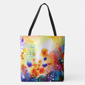 Blauer Sommer-Garten Tasche