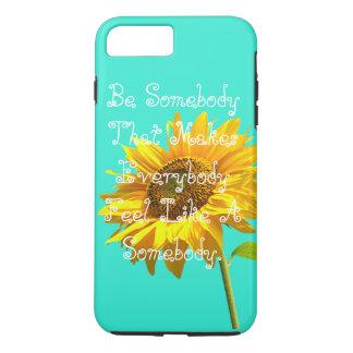Blauer Sonnenblume Telefonkasten iPhone 8 Plus/7 Plus Hülle