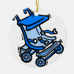 blauer Spaziergänger Weihnachtsbaum Ornament