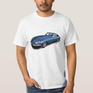 Blauer Sport-Auto-T - Shirt des Jaguar-XKE