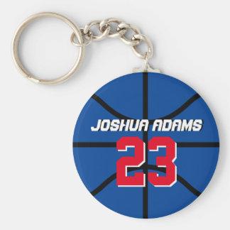 Blauer Sport-Team-Athleten-Basketball Keychain Schlüsselanhänger