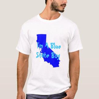 Blauer Staats-Junge T-Shirt