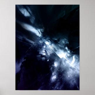 blauer Stahl Plakatdruck