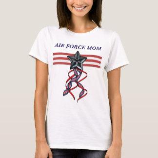Blauer Stern-Band-Luftwaffen-Mamma T-Shirt