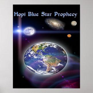 blauer Stern des Hopi Poster