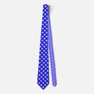 Blauer Stern-Diamant geometrisch Bedruckte Krawatte