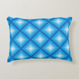 Blauer Stern-Diamant geometrisch Zierkissen