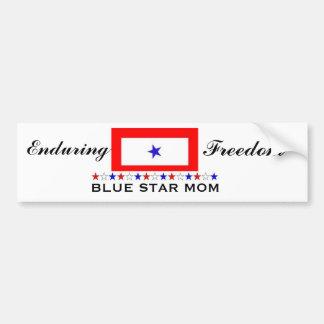 Blauer Stern-Mamma Autoaufkleber