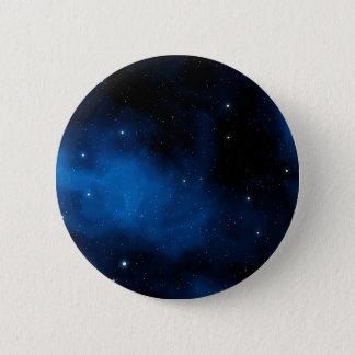 Blauer sternenklarer Himmel Runder Button 5,1 Cm