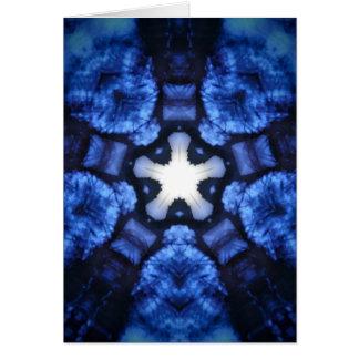 Blauer SternexplosionHippie Kaliedoscope Entwurf Karte