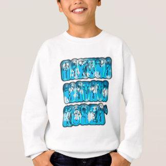 Blauer stilvoller Vintager Zombi Entwurf Hakuna Sweatshirt
