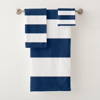 Blauer Streifen Badhandtuch Set