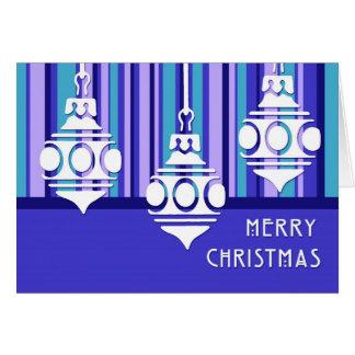Blauer Streifen verziert frohe Weihnacht-Karte Karte