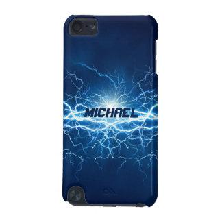 Blauer Strom-Blitz | personalisiert iPod Touch 5G Hülle