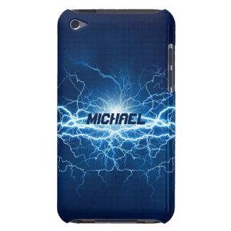 Blauer Strom-Blitz | personalisiert iPod Touch Cover