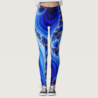 Blauer Strudel Leggings