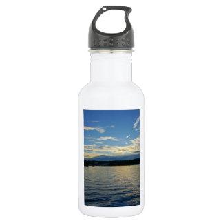Blauer Sunset See von Ozarks Trinkflasche