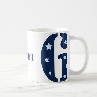 Blauer Superstar 6 Geburtstags-Tasse Kaffeetasse