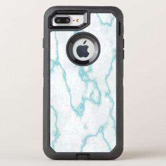 Blauer tadelloser Marmor OtterBox Defender iPhone 8 Plus/7 Plus Hülle