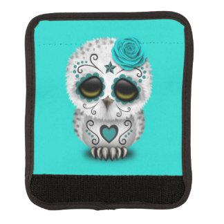 Blauer Tag der toten Baby-Eule Gepäckgriff Marker