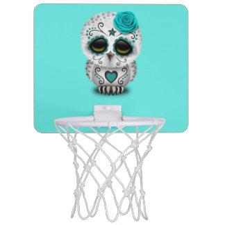 Blauer Tag der toten Baby-Eule Mini Basketball Netz