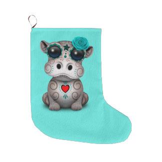 Blauer Tag des toten Baby-Flusspferds Großer Weihnachtsstrumpf