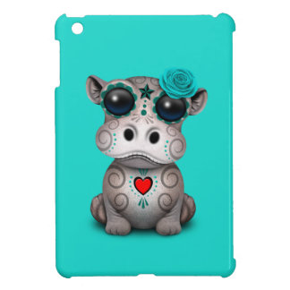 Blauer Tag des toten Baby-Flusspferds iPad Mini Hülle