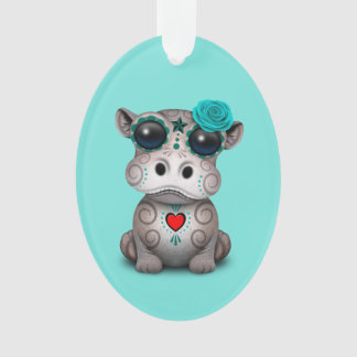 Blauer Tag des toten Baby-Flusspferds Ornament