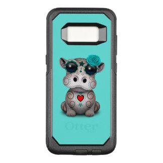Blauer Tag des toten Baby-Flusspferds OtterBox Commuter Samsung Galaxy S8 Hülle