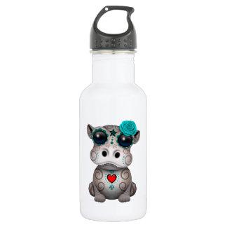 Blauer Tag des toten Baby-Flusspferds Trinkflasche