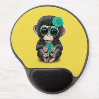 Blauer Tag des toten Schimpansen Gel Mousepad