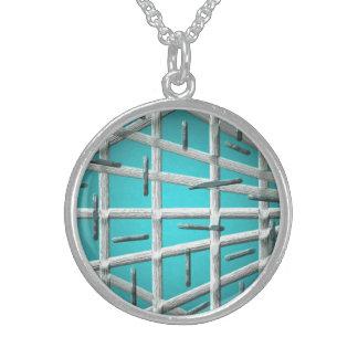 Blauer Tanz Sterling Silberkette
