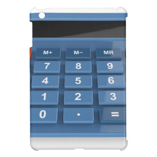 Blauer Taschenrechner iPad Mini Hülle