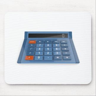 Blauer Taschenrechner Mousepad