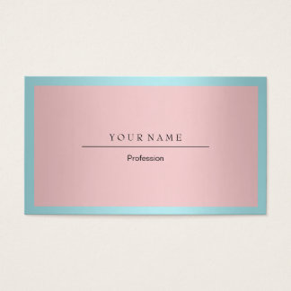 Blauer Tiffany-Ozean-Rahmen-minimales rosa Visitenkarte