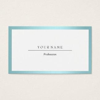 Blauer Tiffany-Ozean-Rahmen-minimales weißes Visitenkarte