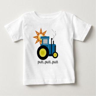 Blauer Traktor Baby T-shirt