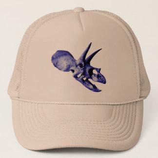 Blauer Triceratopsschädelhut Truckerkappe