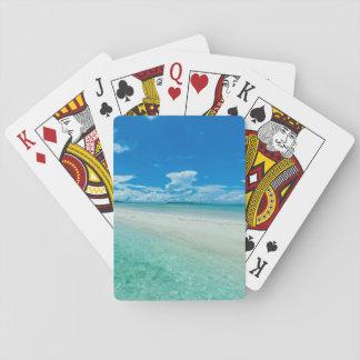 Blauer tropischer Meerblick, Palau Spielkarten