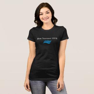 Blauer Tsunami T-Shirt