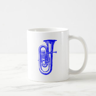 Blauer Tuba Kaffeetasse