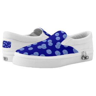 Blauer Tupfen-Beleg auf Schuhen Slip-On Sneaker