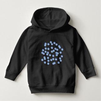 Blauer Tupfen-Kleinkind-PulloverHoodie Hoodie