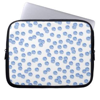 """Blauer Tupfen-Laptop Sleeves 10"""""""