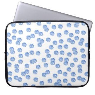 """Blauer Tupfen-Laptop Sleeves 15"""""""