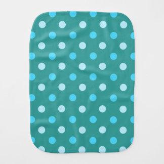 Blauer Tupfenburp-Stoff Baby Spucktuch