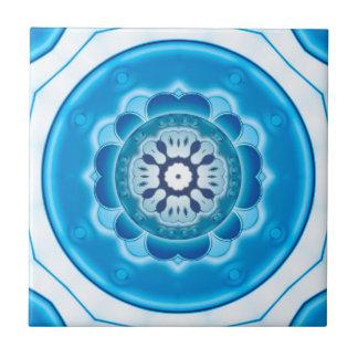 Blauer Türkis-geometrische Badezimmer-Fliese Keramikfliese