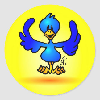 Blauer Twitter-Vogel Aufkleber