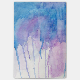 Blauer u. lila Notizblock des Watercolor-|