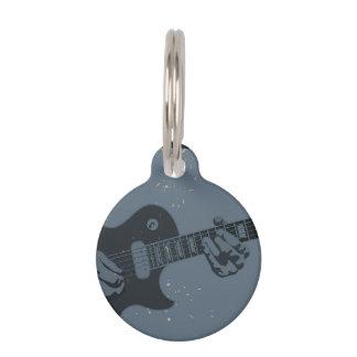 Blauer u. schwarzer rustikaler Gitarrist Tiernamensmarke